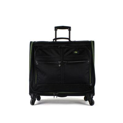 [SECOND 30OFF] Porta Traje Textil Detalle Contraste en Color Negro