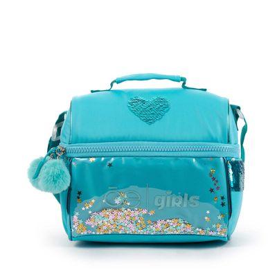 Lonchera Cloe Girls con Estrellas y Pompones en Color Azul