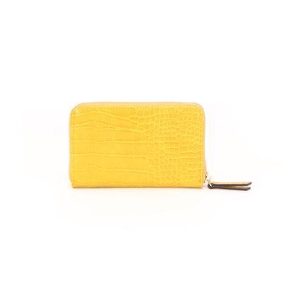 Cartera Cierre Sencillo en Color Amarillo