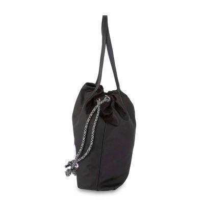 Bolsa Tote Costal cerrado de Jareta en Color Negro