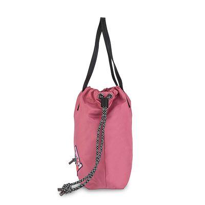Bolsa Tote Costal cerrado de Jareta en Color Rosa
