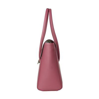 Bolsa Briefcase con Broche en Color Rosa