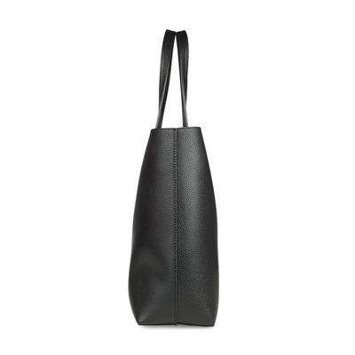 Bolsa Tote con Bolsillo Interno en Color Negro