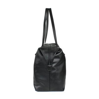 Bolsa Tote con Asas en Contraste en Color Negro