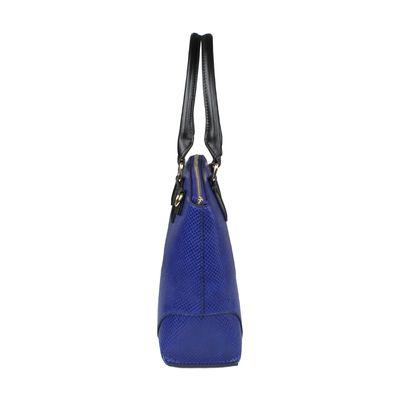 Bolsa Satchel Acabado Vipera en Color Azul Eléctrico