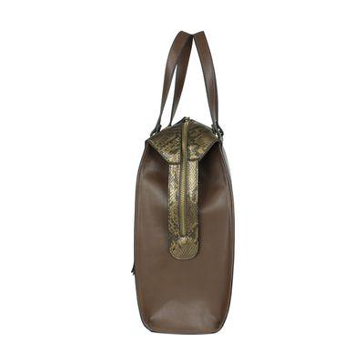 Bolsa Satchel de Vipera con Colgante en Color Bronce