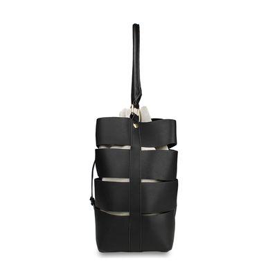Bolsa Hobbo con Cortes y bolso Interno en Color Negro