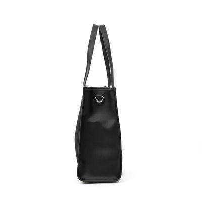Bolsa Tote con Malla en Color Negro
