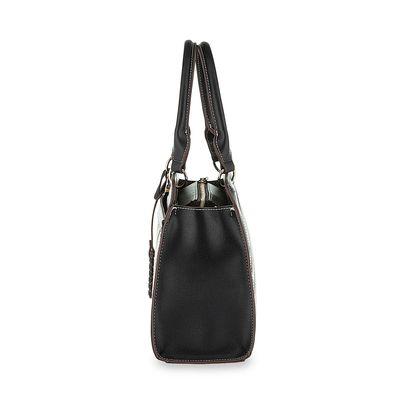 Bolsa Satchel con Bordado en Color Negro