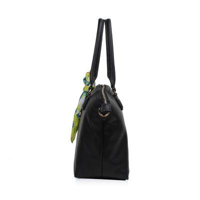 Bolsa Satchel con mascada en Color Negro