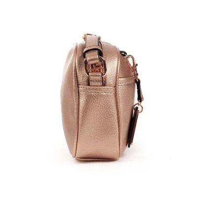 [SECOND 30OFF] Bolsa Crossbody con Colgante Metálico en Color Copper