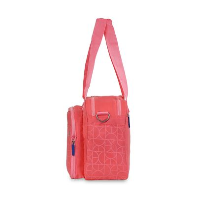 Pañalera Mom & Baby con cambiador desplegable en Color Coral