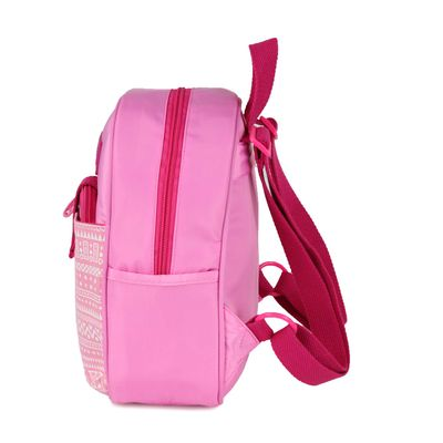 Mochila con Cosmetiquera Transparente en Color Rosa