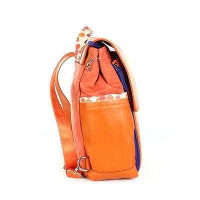 Pañalera Mochila Mom & Baby con Cambiador Incluido en Color Naranja