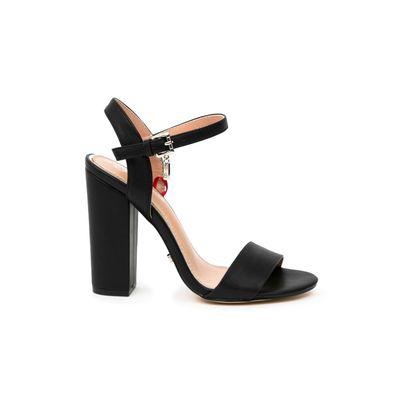 Sandalia Tacon Grueso en Color Negro