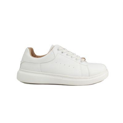 Tenis con Plataforma en Color Blanco