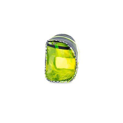 Cosmetiquera con Bordes Estampados Grande en Color Marino