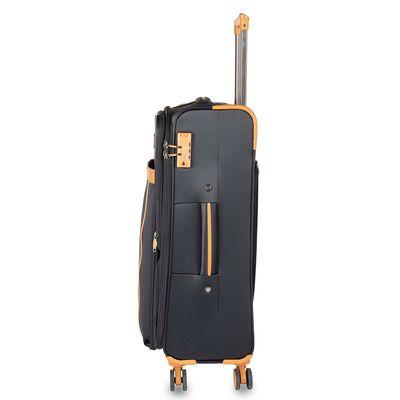 """Maleta 24"""" Cloe Luxury en Color Negro"""