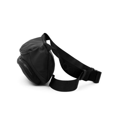 [SECOND 30OFF] Cangurera Negra Uomo correa de Webbing en Color Negro