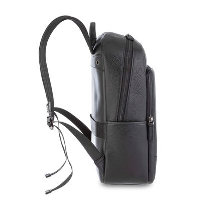 "Mochila Porta Laptop 14"" de Piel en Color Negro"