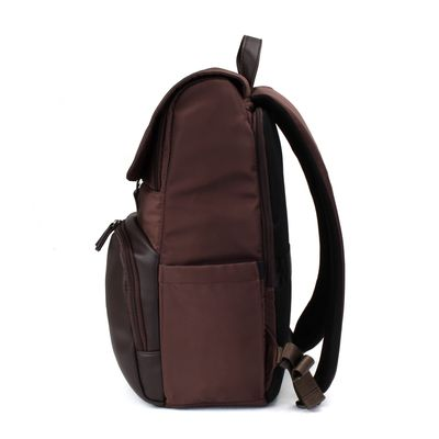 "Mochila Porta Laptop 14"" Uomo en Color Cafe"
