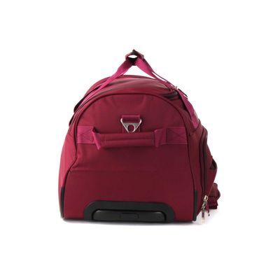 [SECOND 30OFF] Duffle Bag Suave Al Tacto en Color Tinto