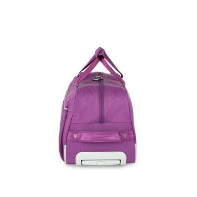 [SECOND 30OFF] Duffle Bag con Ruedas en Color Morado