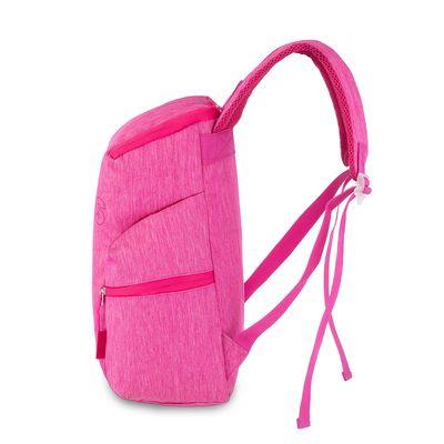 """Mochila Porta Laptop 15"""" Cloe Girls con Acabado Mezclilla en Color Rosa"""