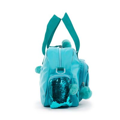 Duffle Bag Cloe Girls con Estrellas y Pompones en Color Azul