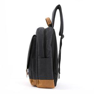 Mochila Porta Laptop Sport con Múltiples Compartimentos en Color Negro