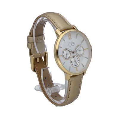 Reloj Clásico con Extensible en Piel en Color Oro