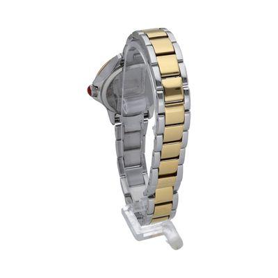 Reloj en Acero Inoxidable con Monograma en Color Oro