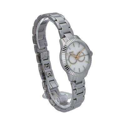 Reloj en Acero Inoxidable con Monograma en Color Plata