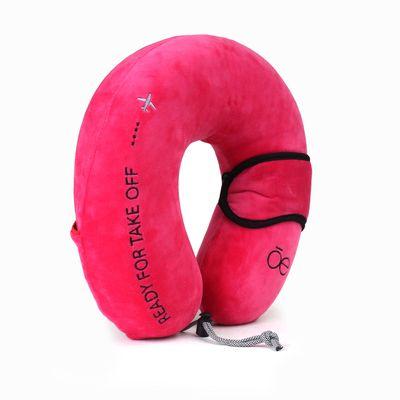 Almohada de Viaje Ergonómica en Color Rosa