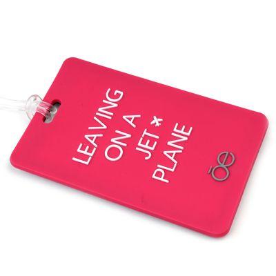 Etiqueta para Identificación de Maleta en Color Rosa