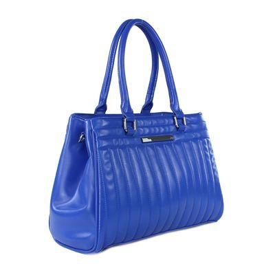Bolsa Satchel con Abullonado en Color Azul Eléctrico