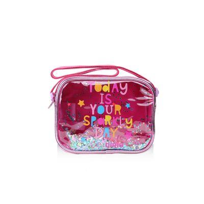 Bolsa Crossbody Cloe Girls Confeti en Color Rosa