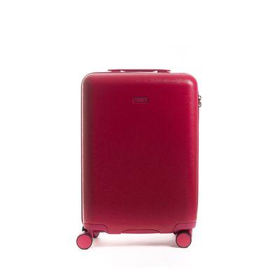 """Maleta 20"""" Rígida con Grabado en Color Rojo"""