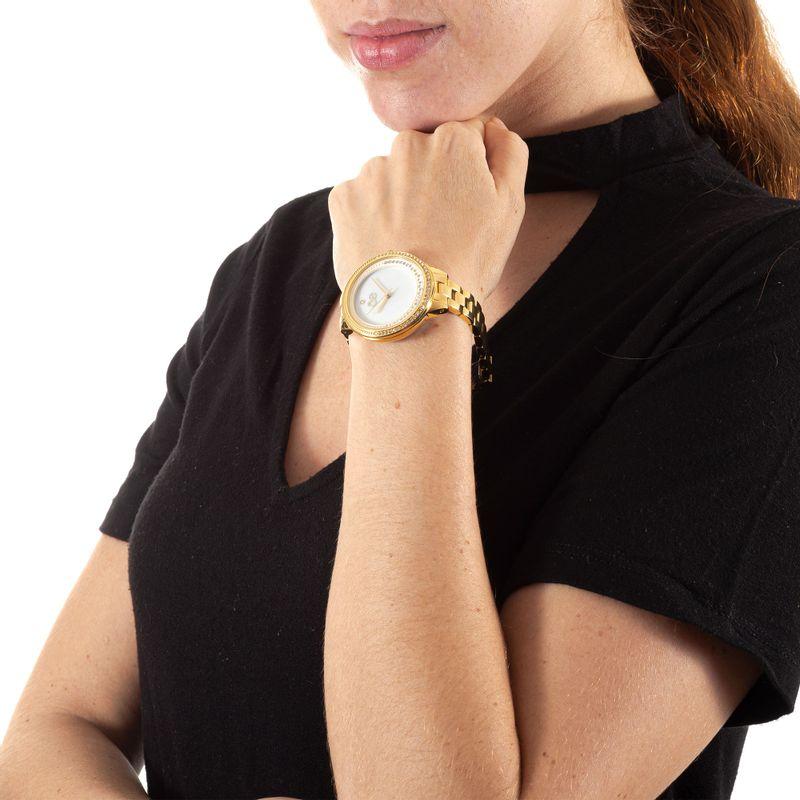 Reloj-Acero-Inoxidable-y-Acabado-Nacar-en-Color-Oro-|-Cloe