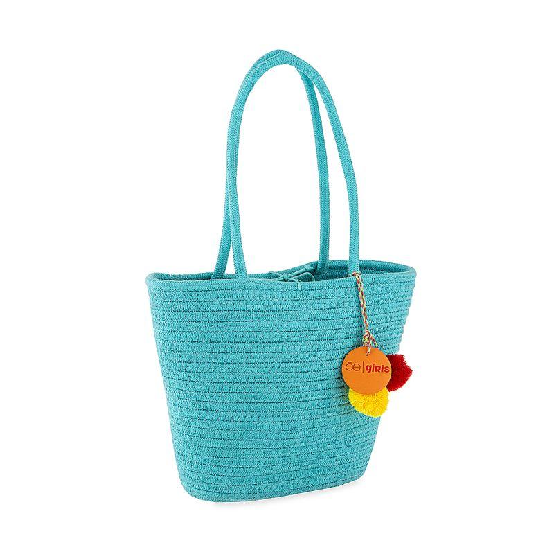Bolsa-Tote-Cloe-Girls-Tejido-en-Color-Azul-|-Cloe
