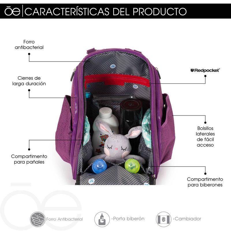 Pa�alera-Estilo-Mochila-con-Print-Unisex-en-Color-Negro- -Cloe