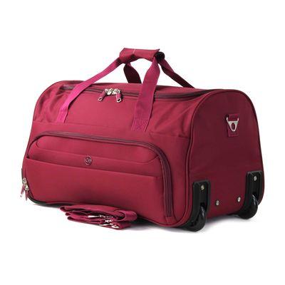 Duffle Bag Suave Al Tacto en Color Tinto