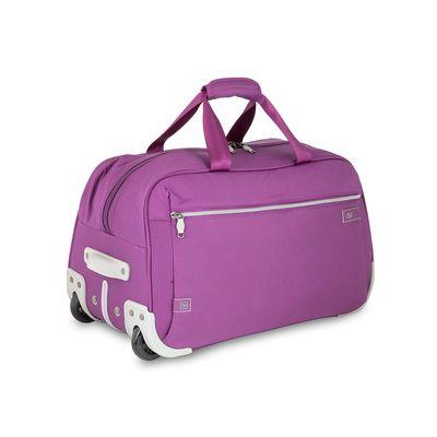 Duffle Bag con Ruedas en Color Morado
