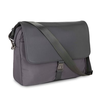 "Mensajera Porta Laptop 14"" Uomo en Color Gris"