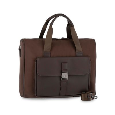 "Duffle Bag Porta Laptop 14"" Uomo en Color Cafe"