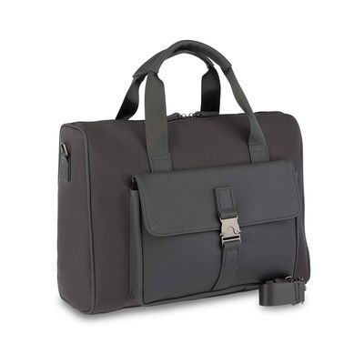 "Duffle Bag Porta Laptop 14"" Uomo en Color Gris"