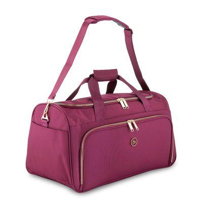 Duffle Bag Detalles Metálicos en Color Tinto