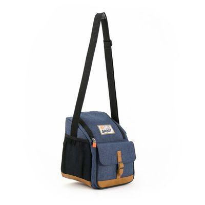 Lonchera Sport Térmica con Bolsillos en Color Azul