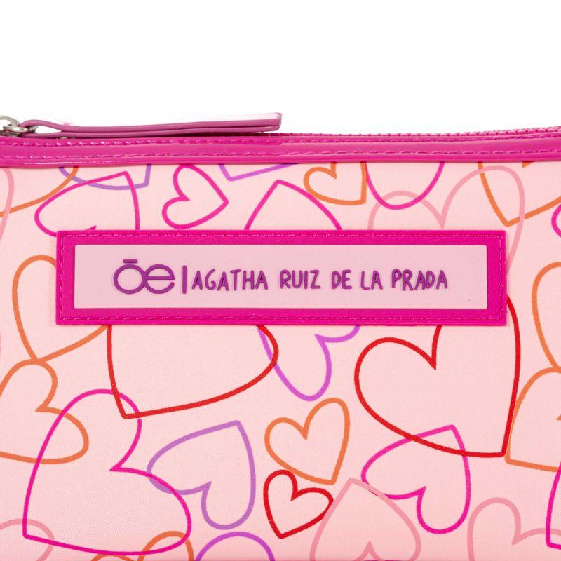 Cosmetiquera-Cloe-by-Agatha-Ruiz-de-la-Prada-Print-de-Corazones-Color-Rosa-en-Color-Rosa-|-Cloe