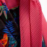 Mochila-Cloe-Girls-Rosa-con-Estampado-Tropical-y-Cierres-en-Color-Rosa- -Cloe